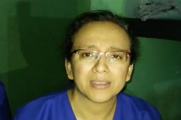 La periodista Lucía Pineda Ubau se mantuvo más de un mes detenida en las celdas de El Chipote. LA PRENSA/ CAPTURA