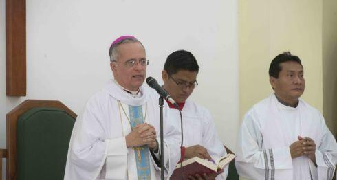 Monseñor Silvio Báez, exhortó a los fieles dar amor y ternura a los enfermos, durante la Jornada Mundial por los Enfermos