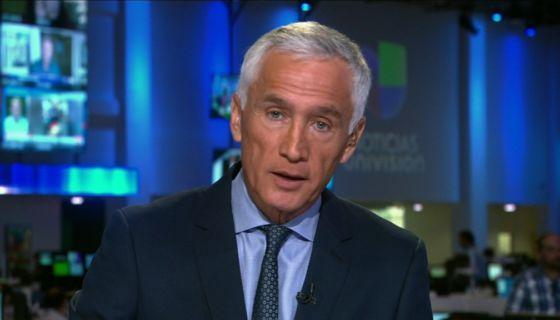 El periodista de la cadena Univision Jorge Ramos. LA PRENSA/ Tomada de redes