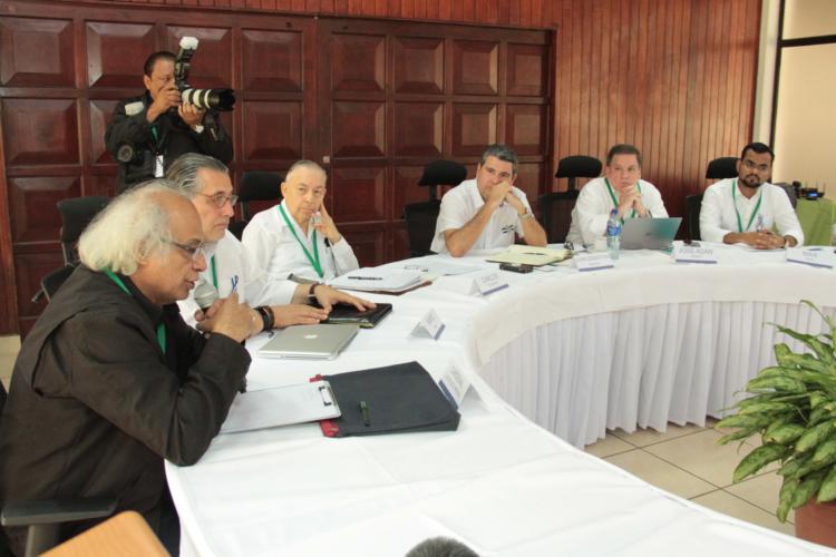 Los representantes de la Alianza Cívica en la reanudación del Diálogo Nacional. LA PRENSA/CORTESÍA ALIANZA CÍVICA