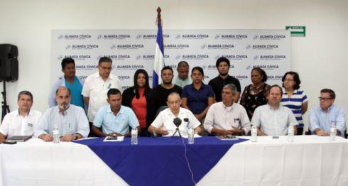 Miembros del Movimiento Campesino fueron incluidos en la Alianza Cívica. LA PRENSA/ CORTESÍA