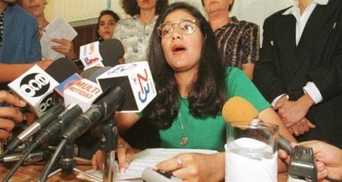 Zoilamérica Narváez denunció a Daniel Ortega de violación y abusos sexuales el 22 de mayo de 1998.AFP