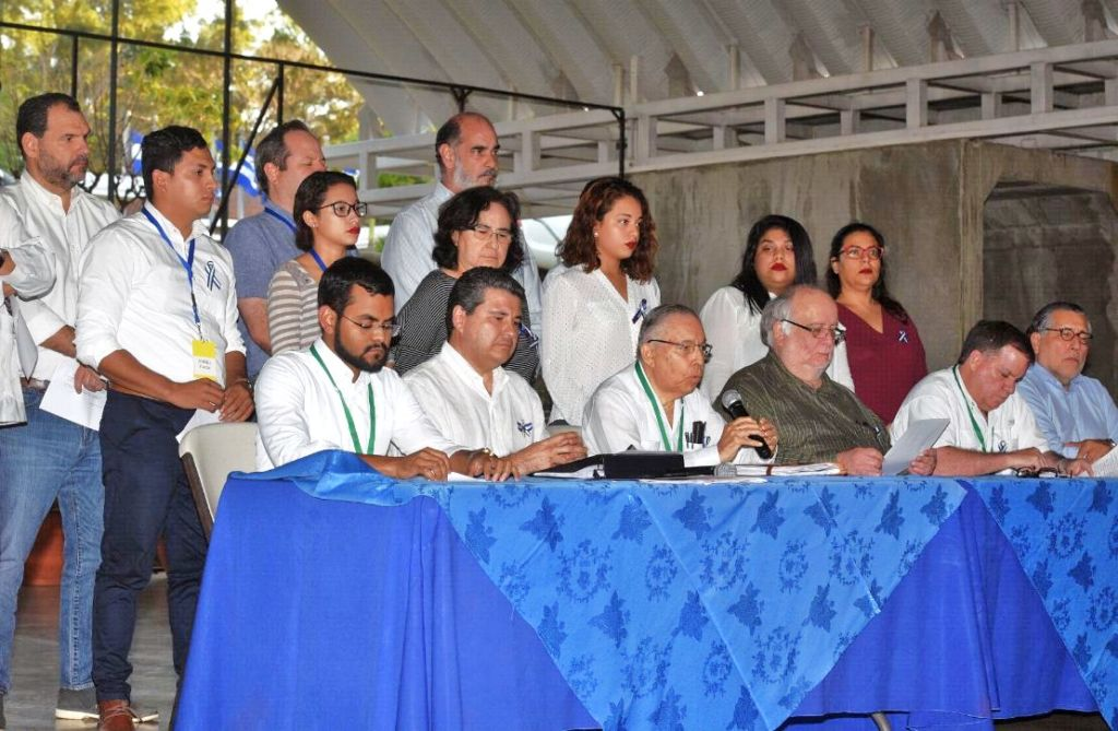 La Alianza Cívica en las negociaciones con el gobierno de Daniel Ortega. LA PRENSA/ ROBERTO FONSECA