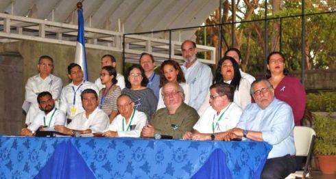 La Alianza Cívica en las negociaciones con el gobierno de Daniel Ortega en el INCAE. LA PRENSA/ ROBERTO FONSECA
