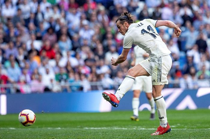 Gareth Bale marcó el segundo gol con el que el Real Madrid derrotó al Celta de Vigo este sábado en la Liga española. LA PRENSA/EFE/Rodrigo Jiménez