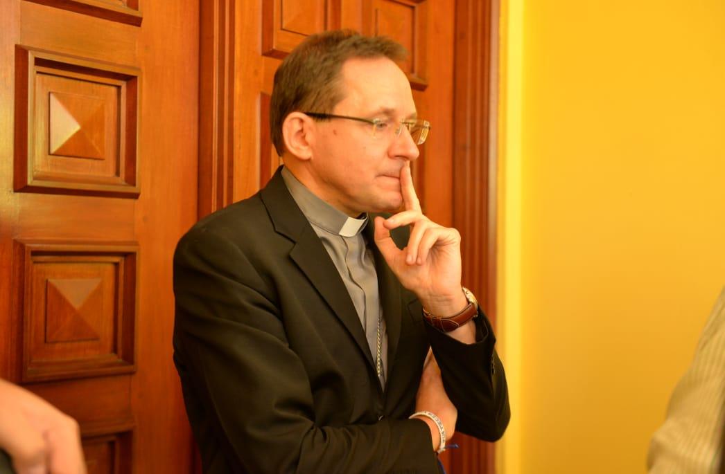 El nuncio apostólico en Nicaragua Stanislaw Waldemar Sommertag. LA PRENSA/ JADER FLORES