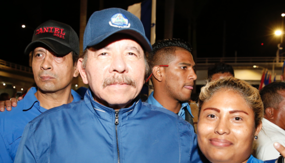 """""""Daniel 2021"""" se leía en las gorras que usaba el personal de seguridad del dictador Daniel Ortega el jueves pasado, cuando éste llamó Caínes y demonios a sus adversarios. LA PRENSA/ TOMADA DE EL 19"""