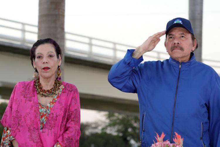 Rosario Murillo y Daniel Ortega, los sanguinarios dictadores de Nicaragua. LA PRENSA/ TOMADA DE EL 19