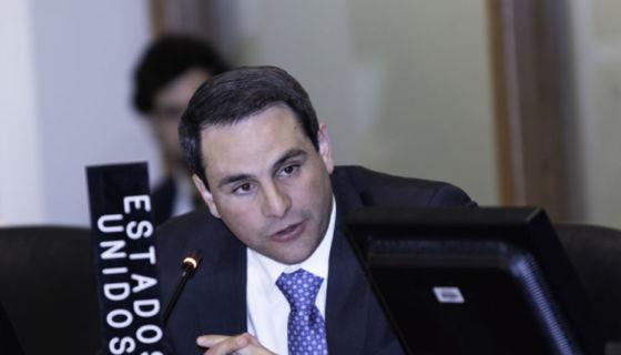El embajador de Estados Unidos, Carlos Trujillo, quien preside en Consejo Permanente de la OEA. LA PRENSA/ CORTESÍA/ OEA