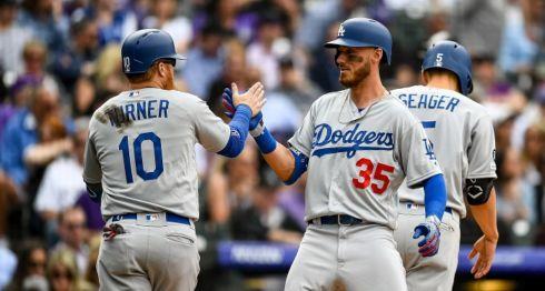Cody Bellinger (35) lleva 16 remolques en los primeros ocho partidos de la temporada, un récord para los Dodgers. LA PRENSA/Dustin Bradford/Getty Images/AFP