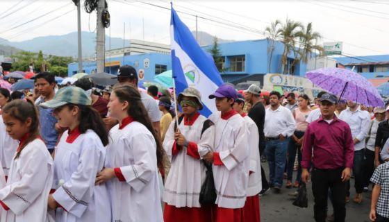 protesta, vía, crucis