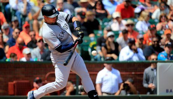Gary Sánchez dio el primer Grand Slam de su carrera en la MLB. LA PRENSA/Daniel Shirey/Getty Images/AFP