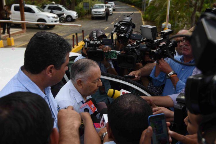 Carlos Tunnermann y Juan Sebastián Chamorro, miembros de la Alianza Cívica
