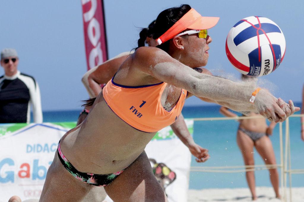 Nicaragüense Elia Machado en su competencia en Cuba. Foto Cortesía FNVB,