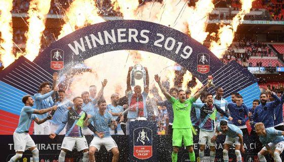 El Manchester City levantó este sábado en el estadio Wembley la FA Cup, al vencer al Watford. LA PRENSA/AFP / Daniel LEAL-OLIVAS