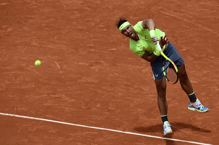 El español Rafael Nadal venció al alemán Yannick Maden, en la segunda ronda del Abierto de Tenis de Francia en Roland Garros. LA PRENSA/AFP/Philippe LOPEZ|