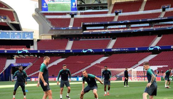 Tottenham disputará su primera final de Champions League ante el Liverpool, este sábado en estadio Metropolitano de Madrid. LA PRENSA/AFP/JAVIER SORIANO