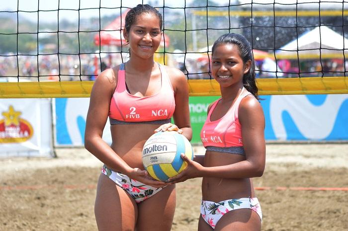 Lourdes Lugo y Anielka Alonso actuarán por primera vez en un Mundial de voleibol de playa. LA PRENSA/CORTESÍA/FNVB