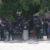 Turbas orteguistas lanzan piedras al interior de la catedral de León durante un homenaje a Sandor Dolmus