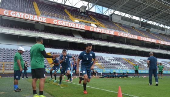 Manuel Rosas durante un entrenamiento en Costa Rica. LA PRENSA/German García