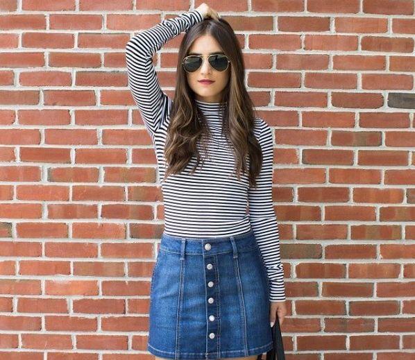 d3f7ff467 Moda| Faldas Jeans, lo más actual