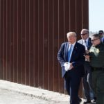 Donald Trump elogia construcción de nueva sección del muro fronterizo con México