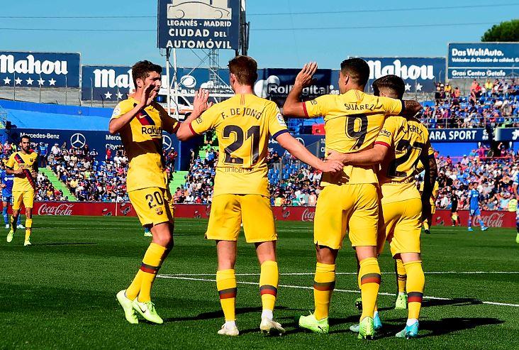 Barcelona Gana 2 0 En Getafe El Granada Lider Provisional