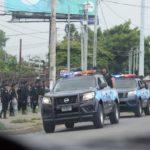Managua amaneció tomada de antimotines, tras el anunció de la marcha