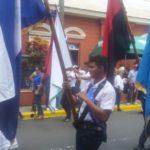 Orientan cargar bandera del FSLN en desfile patrio de Diriamba