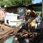 Las imágenes de los daños que causó la lluvia de este jueves en Managua