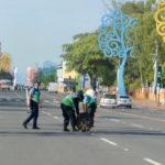Policía Orteguista se toma la Avenida Bolívar previo a su acto por el 40 aniversario