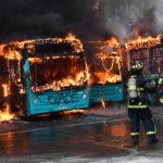 Las imágenes de los disturbios en Chile por el aumento de la tarifa de metro