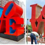 Alcaldía de Granada plagia la escultura «LOVE» del escultor norteamericano Robert Indiana