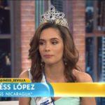 Videos | Candidatas latinas rumbo a Miss Universo llegan a Telemundo, entre ellas Nicaragua