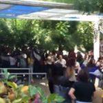 ¡Democracia sí, dictadura no! Estudiantes realizan un plantón dentro de la Universidad Americana (UAM)
