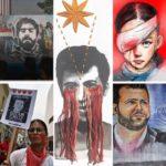 5 rostros que simbolizan las protestas en Chile, Colombia, Hong Kong, Irak y Líbano