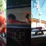 Fanático orteguista le quiebra el teléfono a un camarógrafo de un medio independiente de Matagalpa durante cobertura periodística