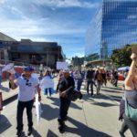 Nicaragüenses protestan en California contra el régimen de Ortega y las deportaciones de Trump