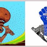 Artes visuales libres: Un puño azul y blanco contra la dictadura Ortega-Murillo