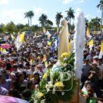 Cientos de católicos reciben a la Virgen de Fátima en la Catedral de Managua