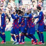 Un póker de Messi alivia al Barcelona y presiona al Real Madrid