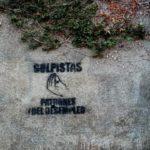 Sandinistas hacen pintas en la sede del Cosep y en la iglesia Santo Domingo, en Managua