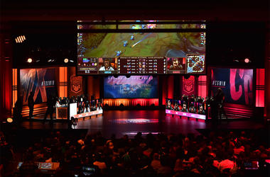 Apr 7, 2018; Miami Beach, FL, USA; A general view during the League of Legends 2018 North America Spring Finals competition between Echo Fox and the Clutch Gaming at The Fillmore Miami Beach. Mandatory Credit: Jasen Vinlove-USA TODAY Sports