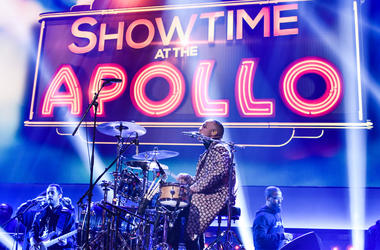 "NEW YORK CITY - NOVEMBER 30: Anderson .Paak & The Free Nationals appear onstage at ""Showtime at the Apollo"" at the Apollo Theater on November 30, 2016 in New York City. The two hour special, hosted by Steve Harvey airs on Fox on December 5. (Photo by Anth"