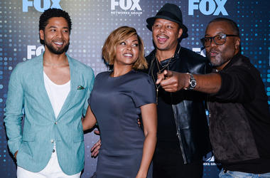 NEW YORK, NY - MAY 15: Jussie Smollett, Taraji P. Henson, Terrence Howard and Lee Daniels attend the 2017 Fox Programming Presentation party at the Wollman Rink in Central Park on May 15, 2017 in New York City. (Photo by Anthony Behar/Fox/PictureGroup)