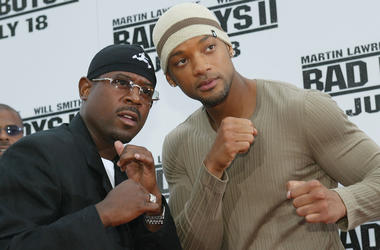 WESTWOOD, CA - JULY 9: Actors Martin Lawrence and Will Smith attend the 'Bad Boys II' movie premiere at the Mann's Village theatre on July 9, 2003 in Westwood, California.