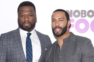 """(L-R) Curtis '50 Cent' Jackson and Omari Hardwick attend """"Nobody's Fool"""" New York Premiere at the AMC Lincoln Square Cinemas in New York, NY, on October 28, 2018. (Photo by Anthony Behar/Sipa USA)"""