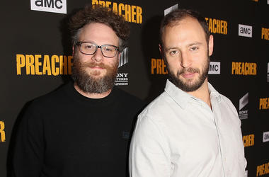 Executive producers Seth Rogen and Evan Goldberg attend the premiere of AMC's 'Preacher' Season 3 on June 14, 2018 in Los Angeles, California.