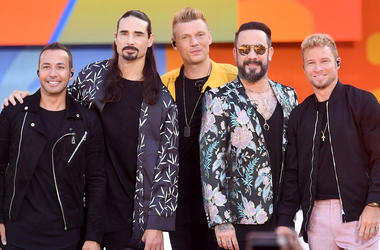 NEW YORK, NY - JULY 13: (L-R) Howie D., Kevin Richardson, Nick Carter, AJ McLean and Brian Littrell of the Backstreet Boys perform on ABC's 'Good Morning America' at SummerStage at Rumsey Playfield, Central Park on July 13, 2018 in New York City. (Photo b