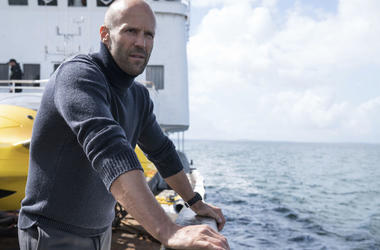 "Jason Statham in a scene from the film, ""The Meg."""